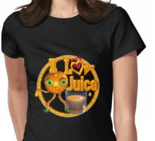 I love Juice Orange from Valxart.com  Womens Fitted T-Shirt