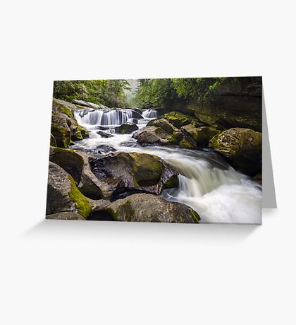 Chattooga River Potholes Waterfall Highlands NC - The Artist's Hand Greeting Card