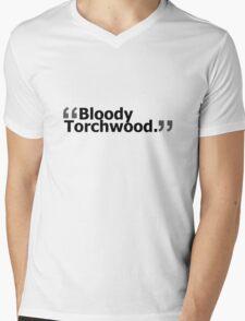 """""""Bloody Torchwood."""" Mens V-Neck T-Shirt"""