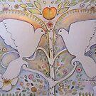 DOVES OF PEACE  2 a by Gea Jones