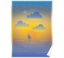 Evening Boat Trip Poster
