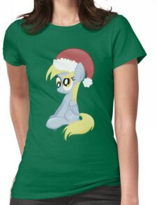 Derpy wearing a Santa Hat Womens Fitted T-Shirt