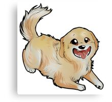 Chibi Golden Retriever Canvas Print