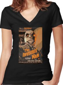 The Invisible Man - Retro Women's Fitted V-Neck T-Shirt