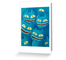 Blue cats Greeting Card