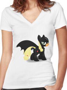 The Hero Ponyville Deserves Women's Fitted V-Neck T-Shirt