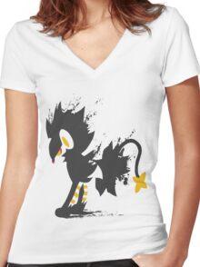 Luxray paint-splatter  Women's Fitted V-Neck T-Shirt