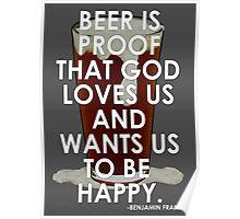 Ben Franklin on Beer Poster