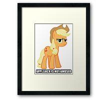 Applejack is not amused  Framed Print