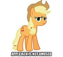 Applejack is not amused  Photographic Print