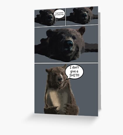 A Comic About a Bear Greeting Card
