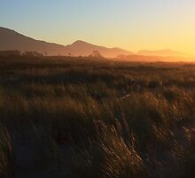 Sunset at Haast Beach by Duncan Cunningham