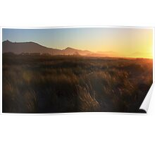Sunset at Haast Beach Poster