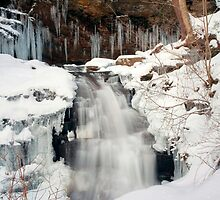 Icy Top of Huron Falls by Gene Walls