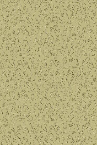 Cats pattern by Sanne Thijs