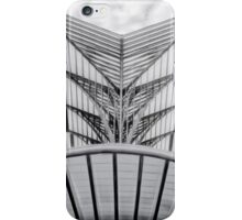Oriente Train Station Lisbon BW iPhone Case/Skin