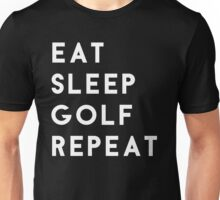 Eat Sleep Golf Repeat Unisex T-Shirt