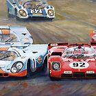 Ferrari vs Porsche 1970 Watkins Glen 6 Hours by Yuriy Shevchuk