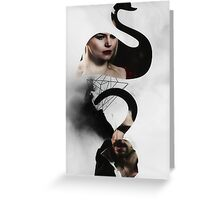 The Swan to my Pirate Greeting Card