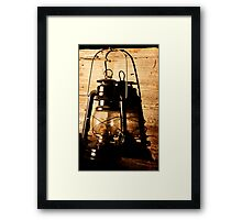 Oil Lantern Framed Print