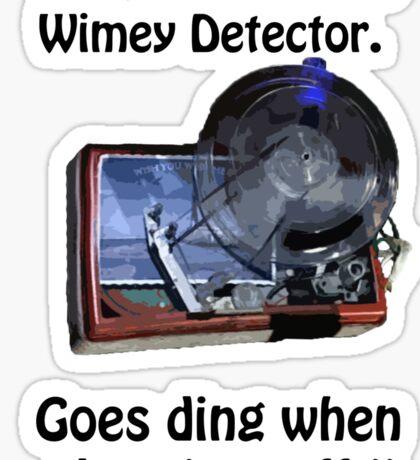 Timey Wimey Detector Sticker