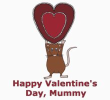 Valentine's Day Heart for Mummy Kids Tee