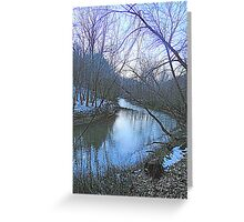 Clearcreek at Dusk Greeting Card