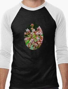 Pink Milkweed Flowers Men's Baseball ¾ T-Shirt