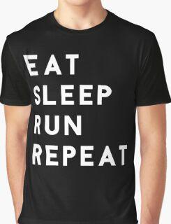 Eat Sleep Run Repeat Graphic T-Shirt