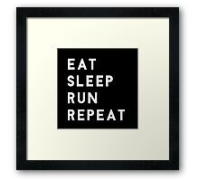 Eat Sleep Run Repeat Framed Print
