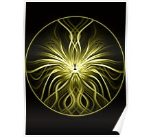 Golden Flame Abstract Poster