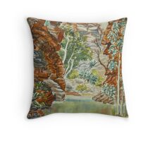 Serpentine Gorge, NT Throw Pillow