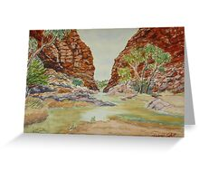 Simpson's Gap, West MacDonnell Ranges, NT Greeting Card