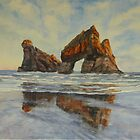 Archway Islands NZ by Virginia  Coghill
