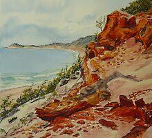 Carlo Sandblow, Rainbow Beach 3 by Virginia  Coghill