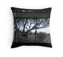 Through the Woolshed Window Throw Pillow