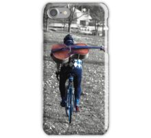 Cellist by Bike  iPhone Case/Skin