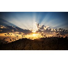 sunset on the mountain view Photographic Print
