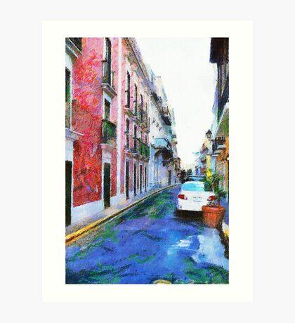 Old San Juan Street Art Print