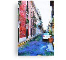 Old San Juan Street Canvas Print