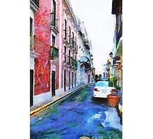Old San Juan Street Photographic Print