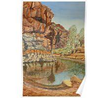 Barraranna Waterhole, Flinders Ranges Poster