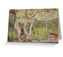 Charred tree, Dutchmans Stern NP, Flinders Ranges Greeting Card