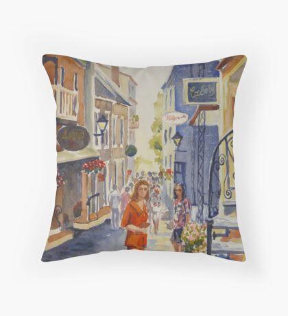 Old Quebec Throw Pillow