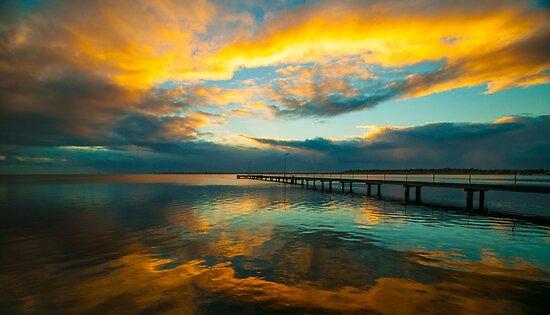Rippleside Sunrise by Danielle  Miner