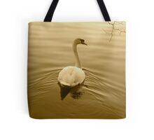 SWAN IN SEPIA Tote Bag