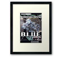 B.L.U.E. Poster Framed Print