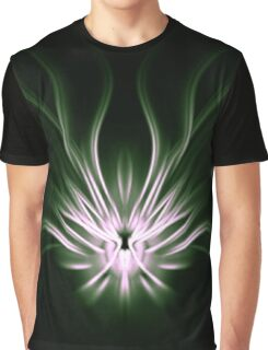Mint Flame Abstract Graphic T-Shirt