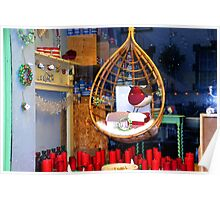 Beautiful shop window Lyme Dorset UK Poster