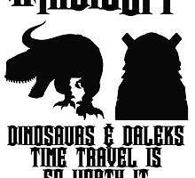 IndieSFF Dinosaurs and Daleks by O-T-X